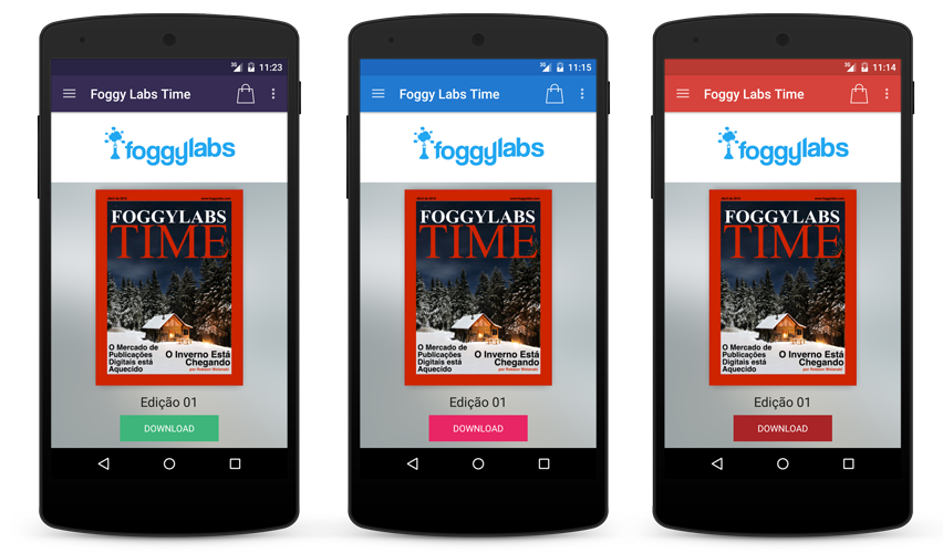 Aplicativo Android para Revistas Digitais